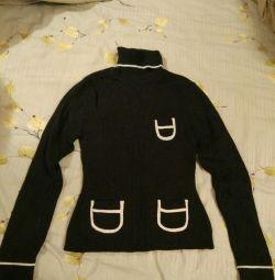 Pulover, guler cald, cu pulover mărime 44-46