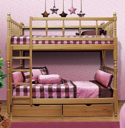 Bed 2-tier with figured backs