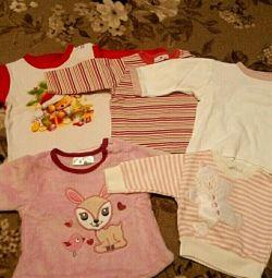 Bluze pentru o fată de 3-5 luni