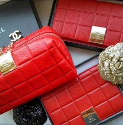Καλλυντική τσάντα, πορτοφόλι και κάλυψη διαβατηρίου Chanel