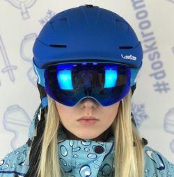Yeni mavi snowboard Kayak kask