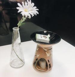 Aroma lamp, candlestick