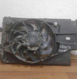 Fan (diffuser) assembled Lada Granta (15>) Oem 640955 (skl-3)