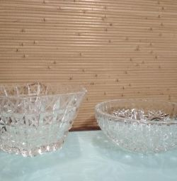 Salad bowl crystal USSR