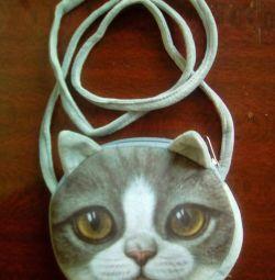 Τσάντα νέα 3D γάτα
