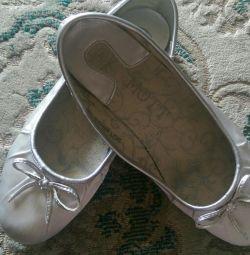 Παπούτσια Μπαλέτου Σατέν