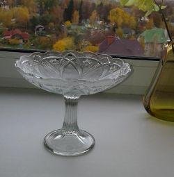 vase, legged vase, fruit bowl