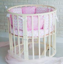 Beech crib round