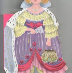 Прекрасная принцесса фигурная книга картонка бу