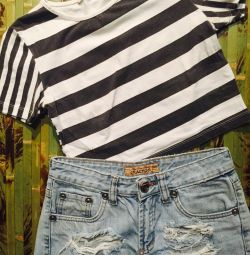Short-cut T-shirt, top