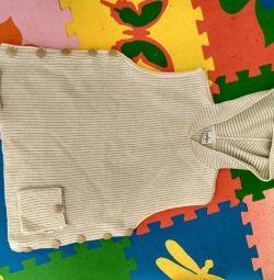 Knitted vest female jacket 46 size