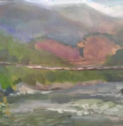 Picture of the Altai Bridge, 15 * 20 oil
