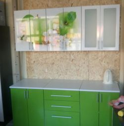 Kitchen with photo printing