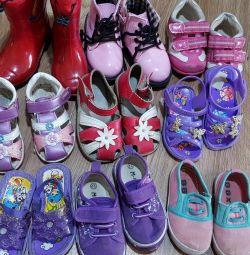 21-22 bedende kız için ayakkabı