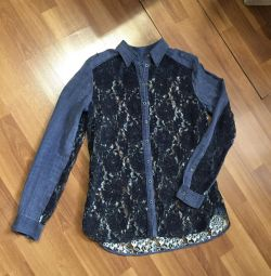 New shirt with lace Diezel original Italy