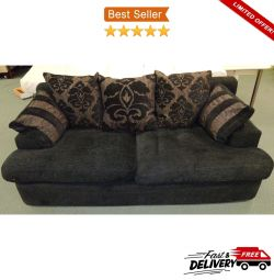 3 Seater Elegant DFS Luxury Upholstered Fabric Sof