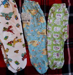 Pantaloni pentru papucii pentru nou-născuți