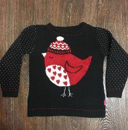 Jumper, pulover cu pasăre
