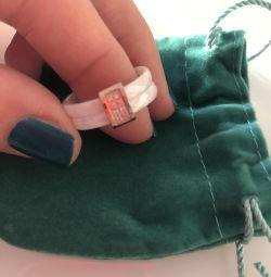 New white ceramic ring size 18.5