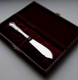Silver butter knife in a case Sweden 1964