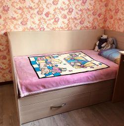 Детская подростковая кровать 185*105