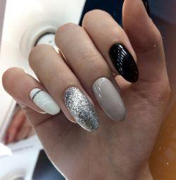 Manicure gel polish, extensions