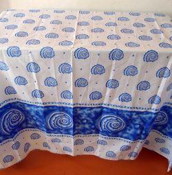Curtain for the bathroom 180x170, fabric with impregnation!