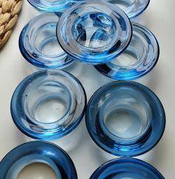 Подсвечники голубого цвета, набор