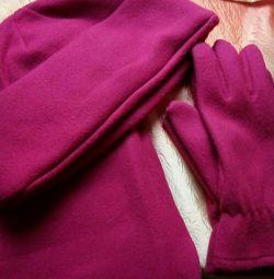 Ρυθμίστε νέο καπέλο, φουλάρι, γάντια