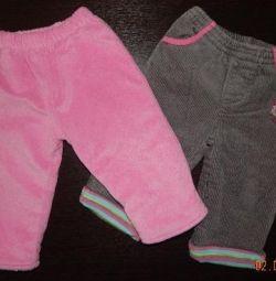 Ζεστό παντελόνι D / S p. 12-18 μήνες