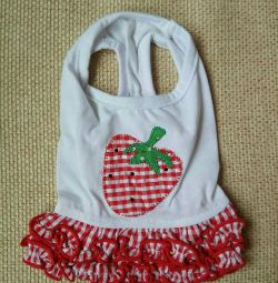 Dress Strawberry (clothes for dogs)