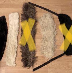 Γούνα σε σακάκι, κολάρο από τεχνητή γούνα (τιμή 3τμ.)