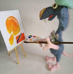 Rat artist, handmade