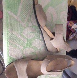 Sandals 41 size natural nubuck