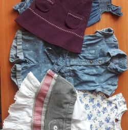Things for a girl from 6 months to 1.5 years package