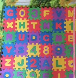 Alfabet puzzle alfabet 36 e. 10 * 10 cm.