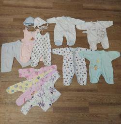 Un pachet de lucruri pentru un copil 0-3 luni