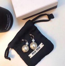 Cercei cu perle MIU MIU perle