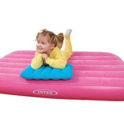 Mattress for children with a pillow, 88x157x18 cm, 66801