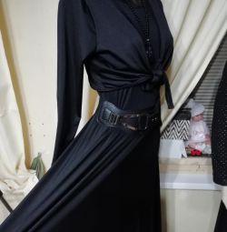 Нове, не реально круте чeрное плаття в підлогу.