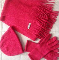 шапка + шарф + рукавички