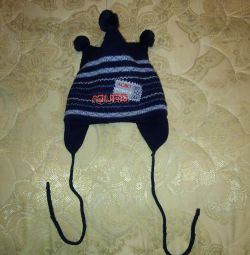 Winter hat + scarf for a boy head girth 48-50