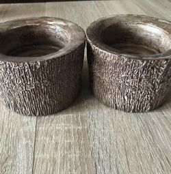 Candle holder for large candles