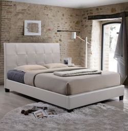 Odette Bed with White PU 150x200