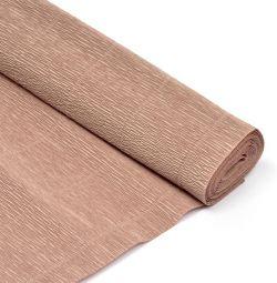 Κυματοειδές χαρτί. 50cm * 2,5m 180g γκρι-ροζ