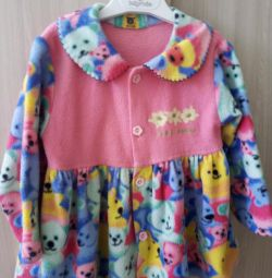 Baby dressing gown with bears
