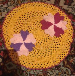 Hand knitted napkins