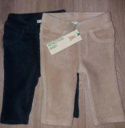 Micro pantaloni de Corduroy