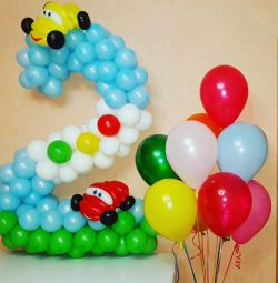 Αριθμός μπαλονιού, μπαλόνια ηλίου
