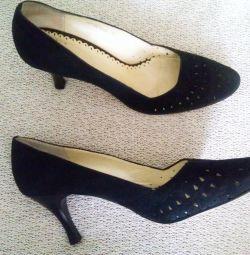 Pantofi autentici din piele de glezna, dimensiune 38